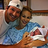 Tony Romo and his wife Candice posed with baby Hawkins.