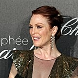 Julianne Moore's elegant updo perfectly complemented her smokey eye.