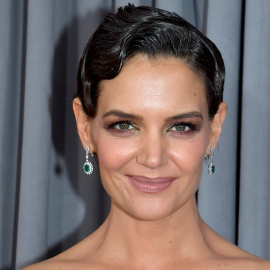 Katie Holmes Grey Hair at the 2018 Grammys