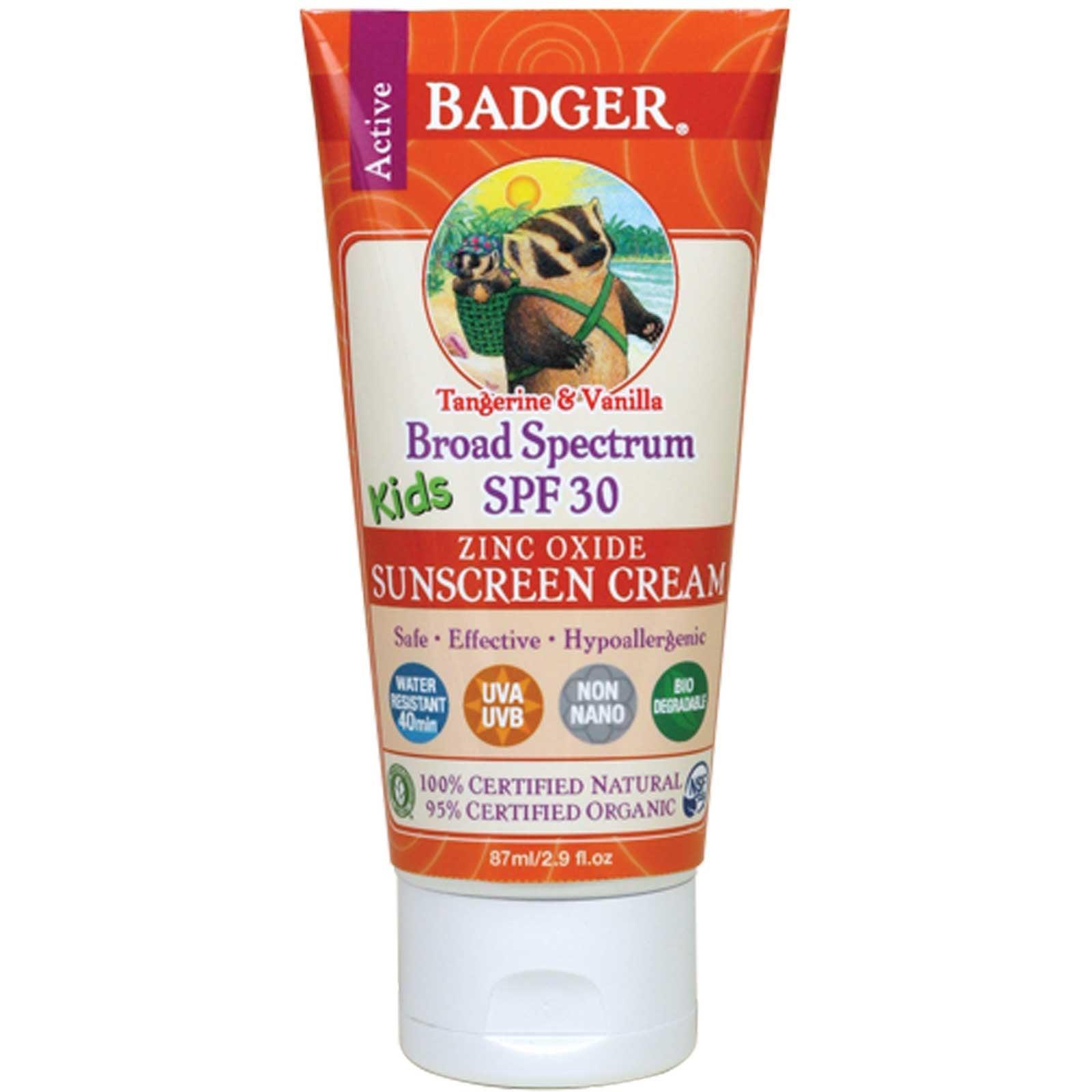 Health Food Store Find: Badger Kids Sunscreen Cream, SPF 30