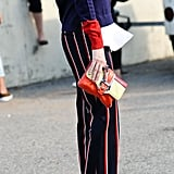We're lusting over this style star's colour-blocking game.