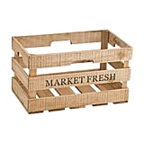 Medium Market Fresh Wood Storage Crate ($13)