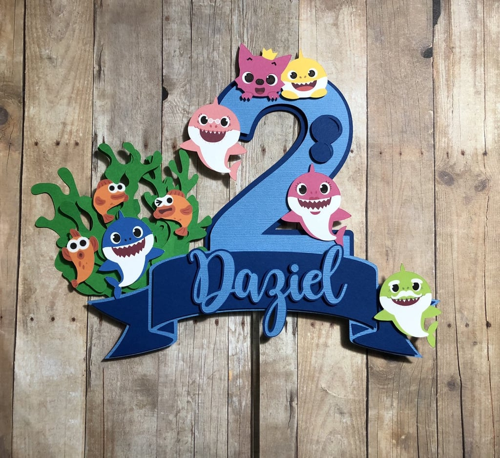Baby Shark Cake Topper   Baby Shark Party Supplies For Kid ...