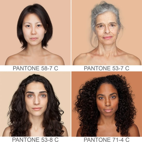 Beautiful Women With Different Pantone Colour Skin