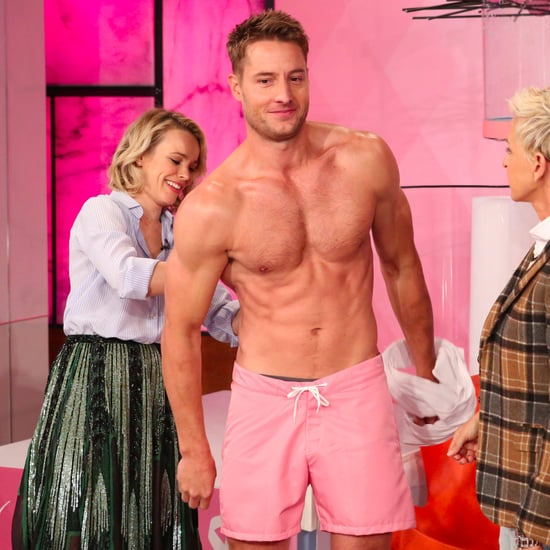 Justin Hartley Shirtless on The Ellen DeGeneres Show 2016