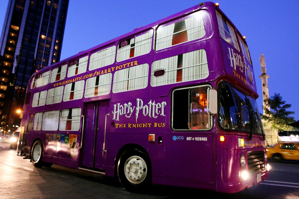 When the Knight Bus Came to New York to Celebrate the Release of the Seventh Book