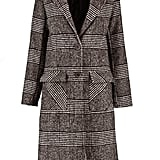 Boohoo Louisa Check Wool Look Coat