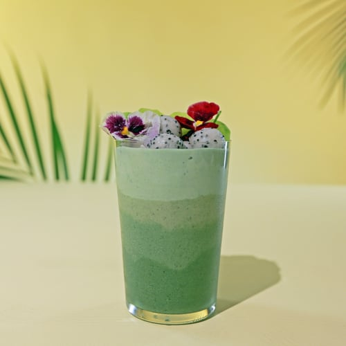 Boozy Green Ombré Smoothie
