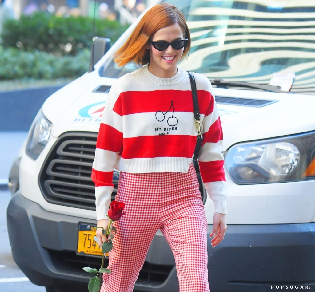 Zoey Deutch's My Other Half Miu Miu Valentine's Day Sweater