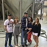 "Ashton Kutcher and Mila Kunis visited the Abita Beer Brewery in New Orleans on Friday. Afterward, the company shared a cute group photo on Twitter, writing, ""You never know who you'll run into at an Abita tour! #jackieandkelso #craftbeer.""  Source: Twitter user TheAbitaBeer"