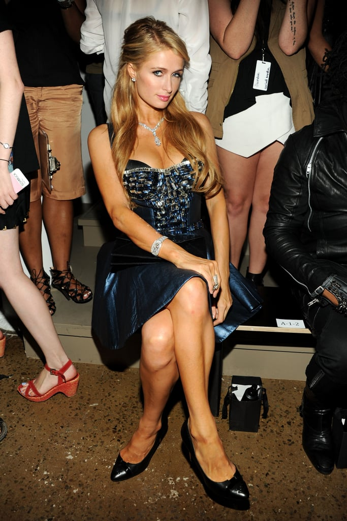 Paris Hilton posed in her seat at The Blonds.