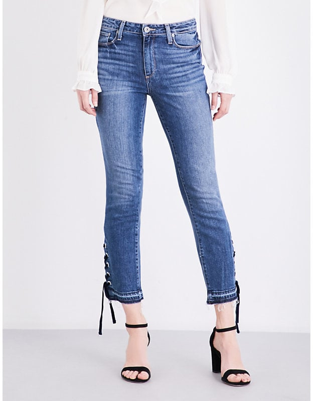 Paige Jacqueline Lace-Up High-Rise Jeans