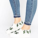 Asos Desert Wide Fit Cactus Patch Sneakers