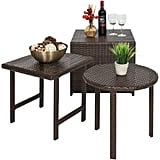Best Choice Products Set of 3 Outdoor Furniture Wicker Tables