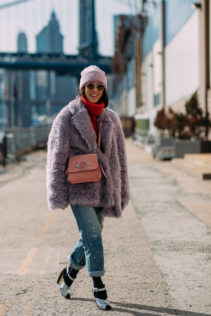 Eva Chen proves pastels are not just for Spring.