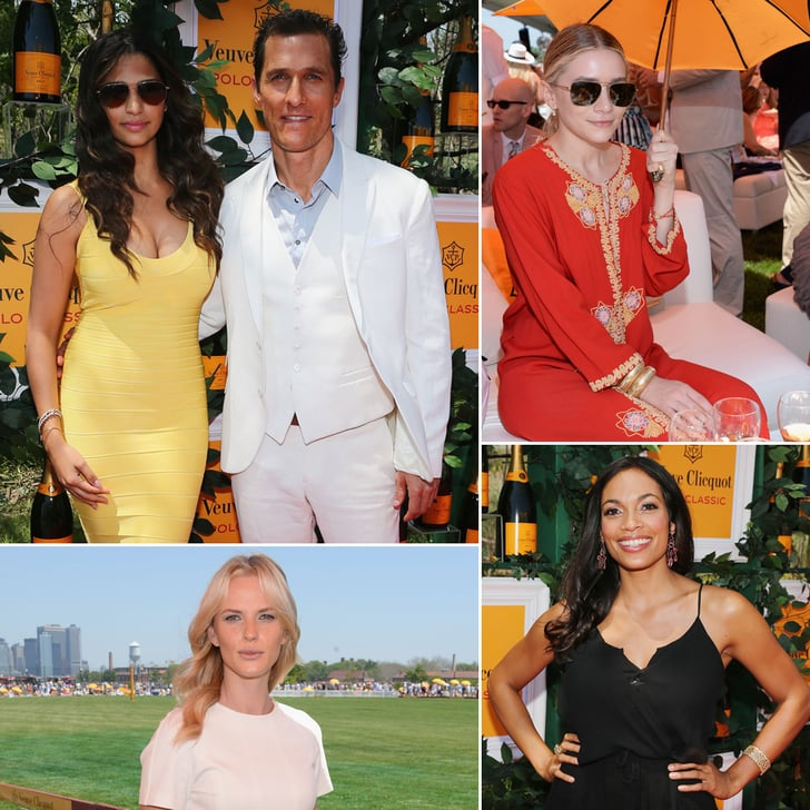 Matthew McConaughey and Rosario Dawson Stay Cool at the Polo Classic
