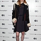 Julia Hafstrom at the Tommy Hilfiger and GQ Men of New York party.