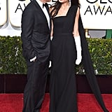 One of George and Amal's first red carpet appearances as a married couple was at the 2015 Golden Globe Awards in LA.