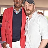 With Samuel L. Jackson at the Audi Polo Challenge in 2015.