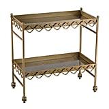 Rectangular Quatrefoil Bar Cart ($998)