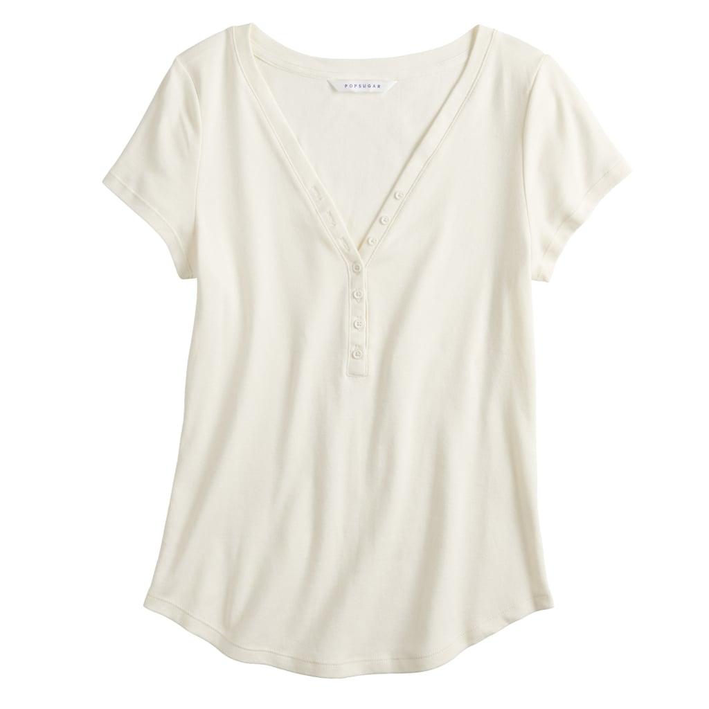 bdb750beebf0 POPSUGAR Collection at Kohl s Henley Stripe Tee