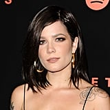 Halsey With a Brown Lob