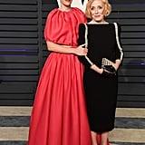 Sarah Paulson and Holland Taylor at Vanity Fair Oscars Party