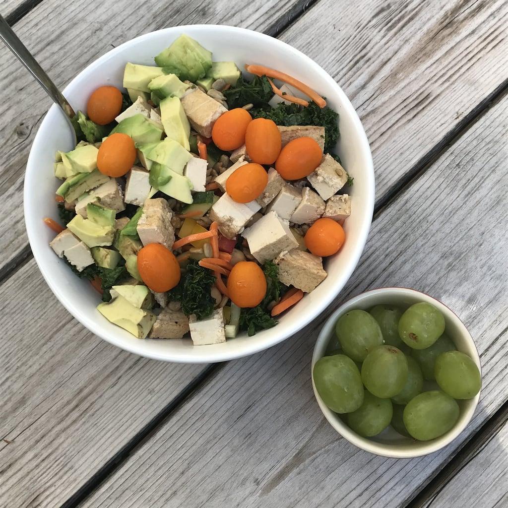 12:30 p.m. —Kale and Tofu Salad and Grapes