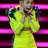 Miley Cyrus Skips the Pot to Pick Up Her Latest Award
