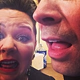 Melissa McCarthy and Jimmy Fallon went for the up-close selfie during the Golden Globes. Source: Instagram user goldenglobes