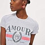 Topshop 'Amour' Slogan T-Shirt