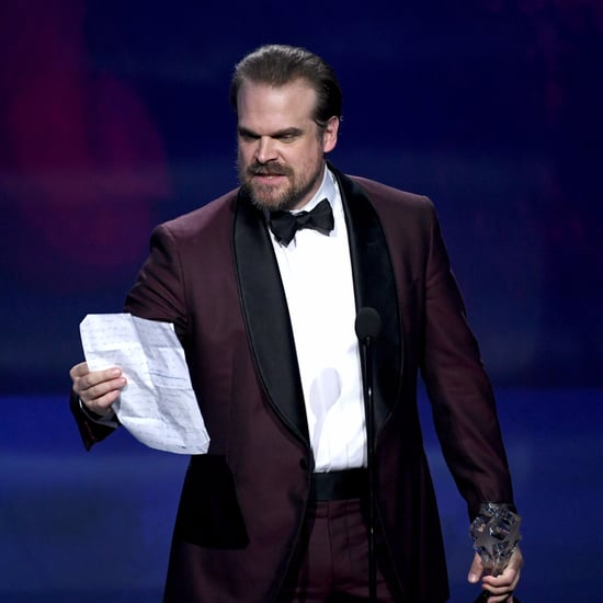 David Harbour's Critics' Choice Speech Made Millie Bobby Brown Cry