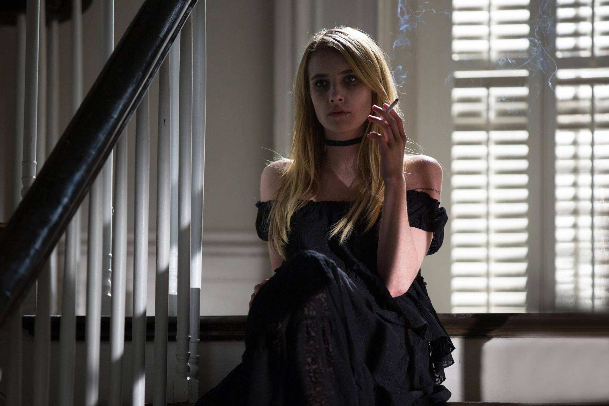 AMERICAN HORROR STORY: COVEN, Emma Roberts in 'The Dead' (Season 3, Episode 7, aired November 20, 2013). ph: Michele K. Short/FX Networks/courtesy Everett Collection