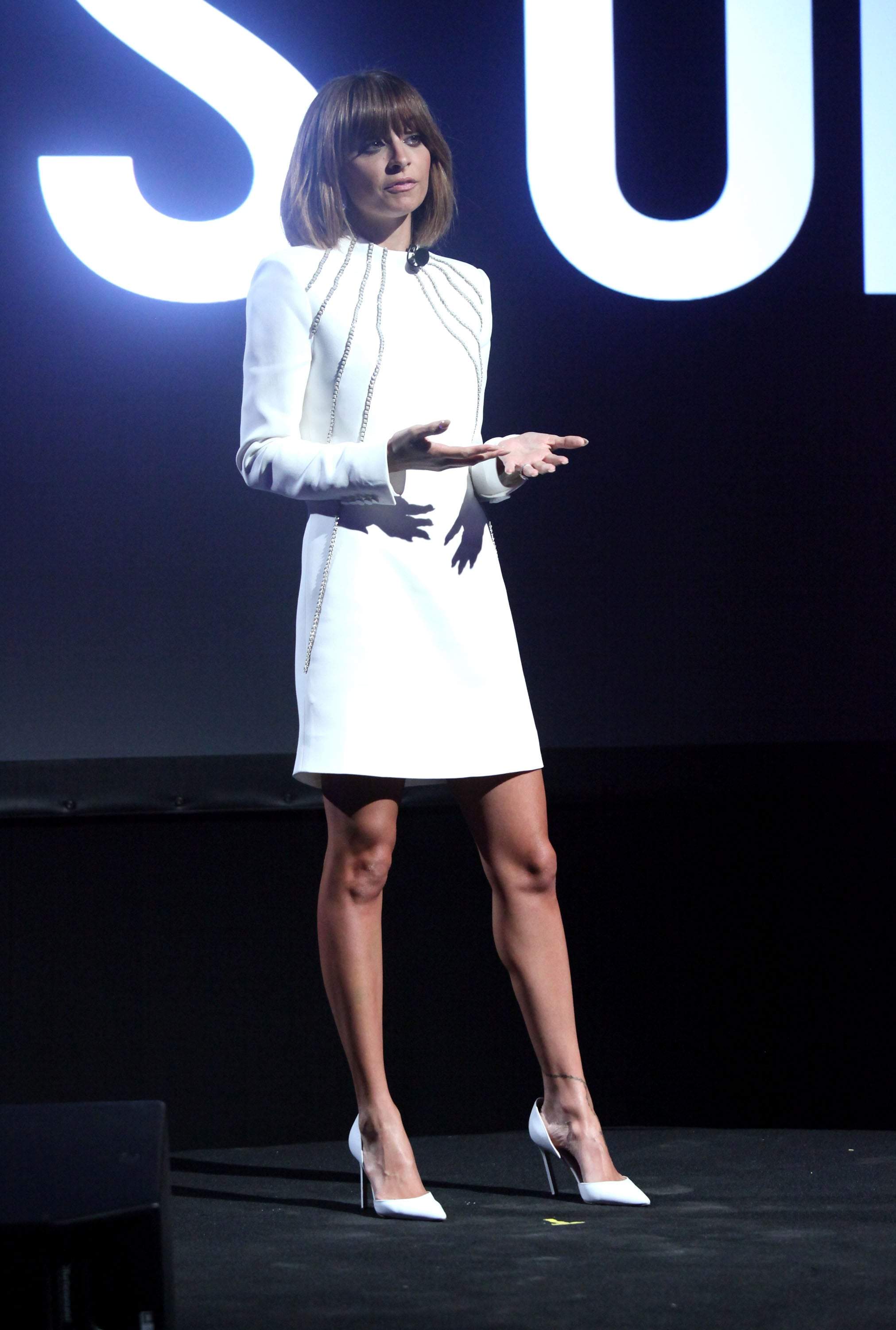 Nicole spoke on stage during AOL's Digital Content NewFronts while promoting her online show, Candidly Nicole, in April 2013.
