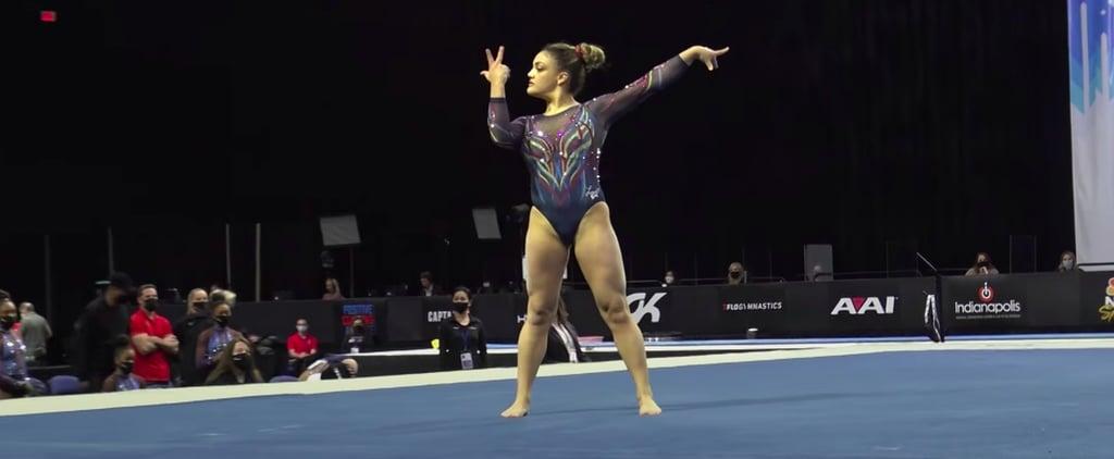 Watch Laurie Hernandez's 2021 Winter Cup Floor Routine