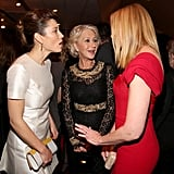 Jessica Biel hung out with Helen Mirren and Toni Collette at the afterparty for Hitchcock's premiere in LA.