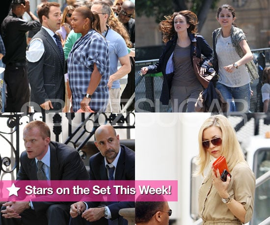 Pictures of Jeremy Piven, Kate Hudson, and Leighton Meester Filming on Set