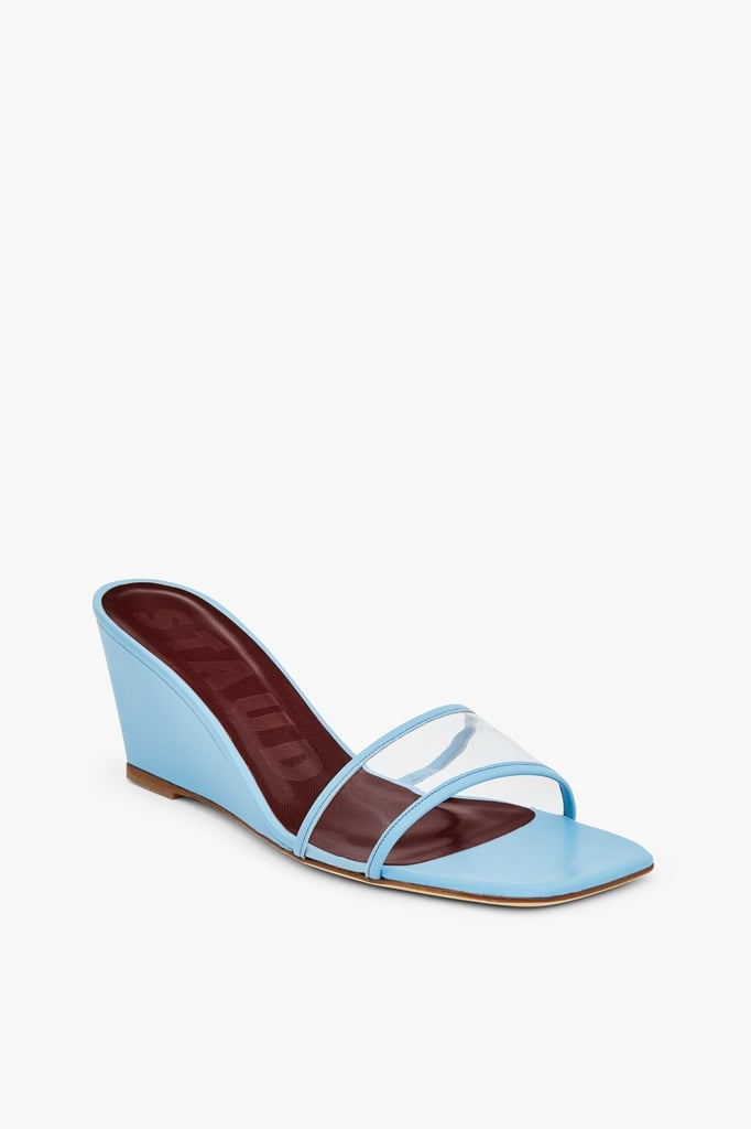 Staud Billie Wedge in Clear Sky Blue