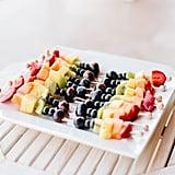 Rainbow Fruit Kabobs