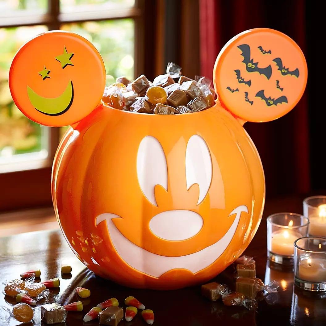 New Disney Parks 2019 Mickey Mouse Ceramic Halloween Pumpkin Candy Bowl