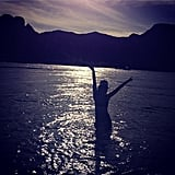 Audrina Patridge took a sunny dip to celebrate.  Source: Instagram user audrinapatridge