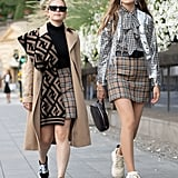 A plaid miniskirt feels fashion-forward and nostalgic all at once.