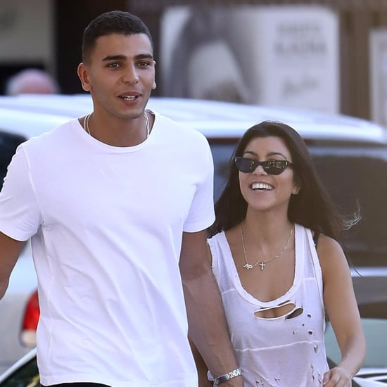 Kourtney Kardashian and Younes Bendjima in St. Tropez 2017
