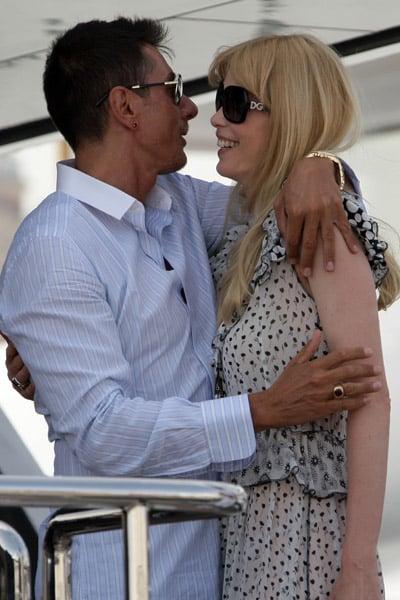 May 22: Stefano Gabbana and Claudia Schiffer on his yacht, Regina D'Italia
