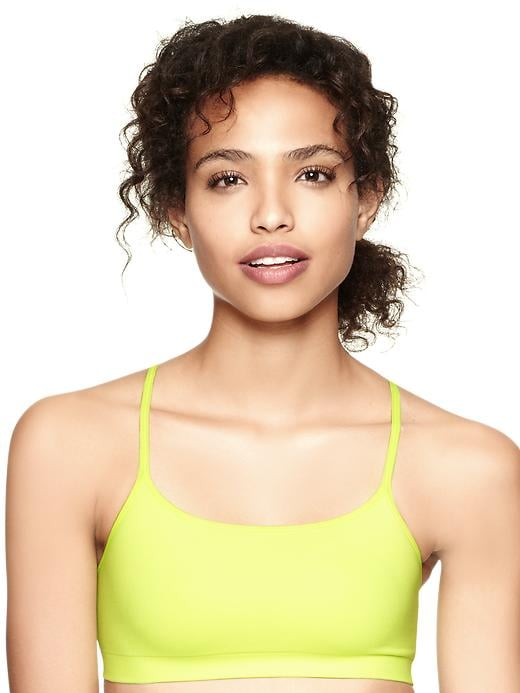 Add a pop of color to your workout regimen with this neon-yellow Gap racerback bra ($20).