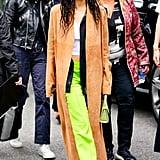 Zoe Kravitz's Green Pants in NYC 2019