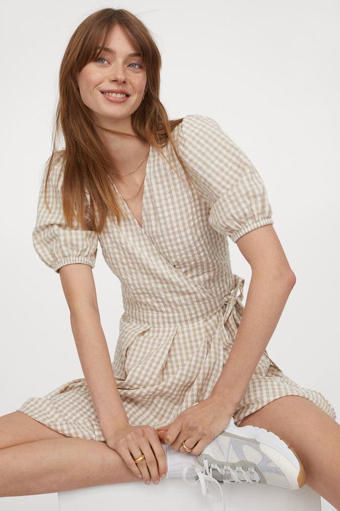 Linen-blend Wrapover Dress