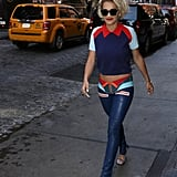Rita Ora Outside Her New York Hotel