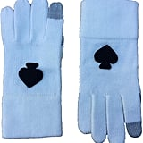 Kate Spade New York Blue Tech-Friendly Knit Gloves
