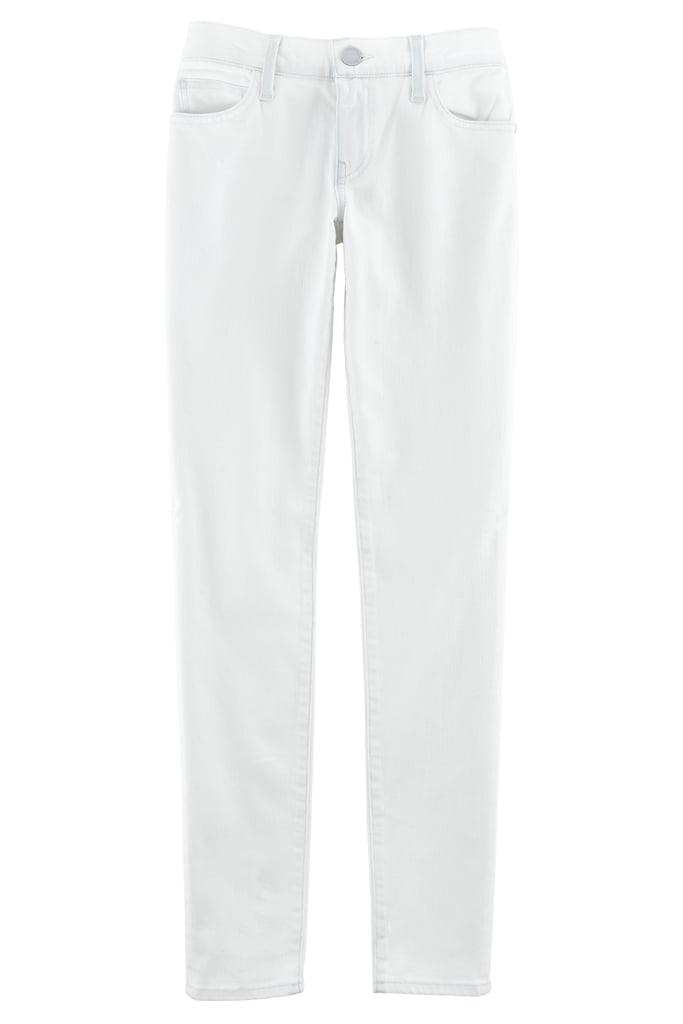 Dare to wear white? The Jane skinny jean ($118) is crisp and polished . . . and will work well past Labor Day. Photo courtesy of Rebecca Minkoff